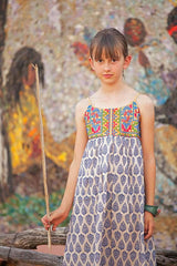 Blooming Beauty Dress in Blue - Tomato Superstar