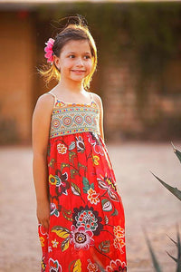 Blooming Beauty Dress in Red - Tomato Superstar
