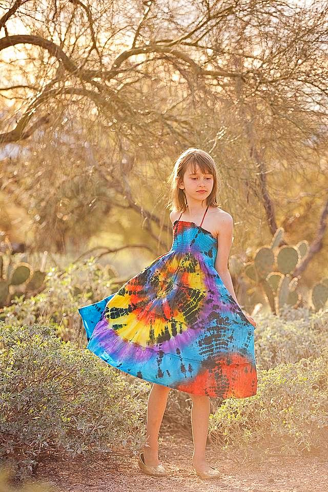 Color Burst Across the Universe Dress in Rainbow