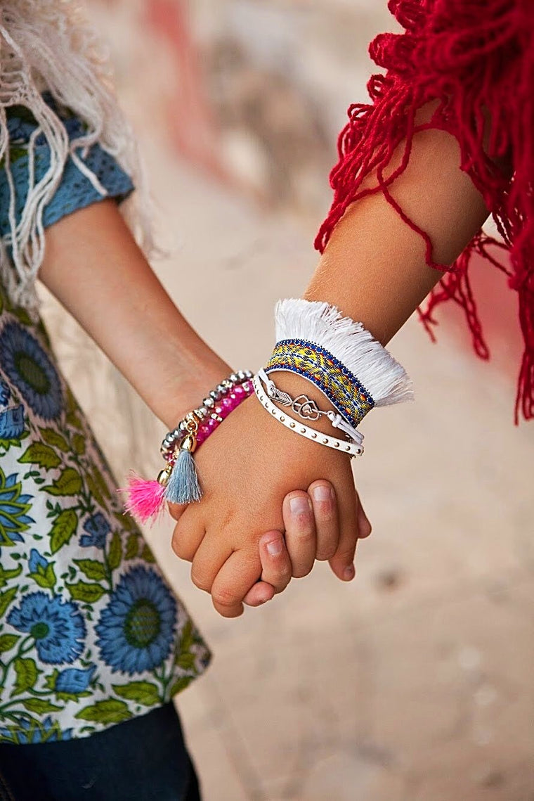 Fringed Friendship Bracelets