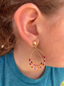 Rainbow Beaded Earrings - Tomato Superstar