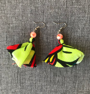 Boho Drop Fabric Earrings