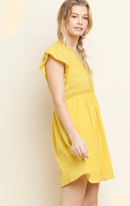 Yellow Boho Babydoll Dress - Tomato Superstar