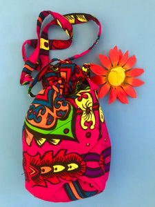 Crossbody Boho Drawstring Bag - Tomato Superstar