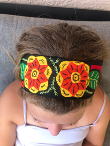 Boho Mola Headbands - Tomato Superstar