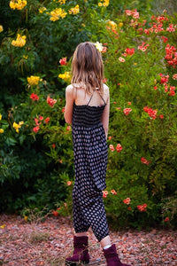 Black Harem Pants Romper/Jumpsuit - Tomato Superstar