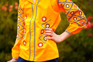 Orange Embroidered Tunic Blouse - Tomato Superstar