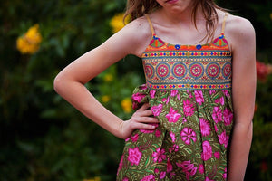 Blooming Beauty Dress in Carnation - Tomato Superstar