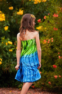 Color Burst Across the Universe Dress in Earth - Tomato Superstar