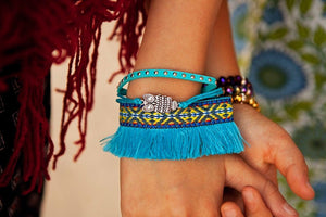 Fringed Friendship Bracelets - Tomato Superstar