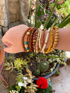 Boho-beaded stacked bracelets - Tomato Superstar