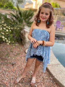 Blue Lace Interchangeable Skirt/Top - Tomato Superstar