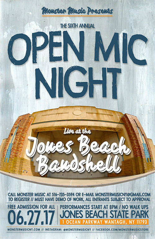 Monster Music's 6th Annual Open Mic Night At The Jones Beach Bandshell
