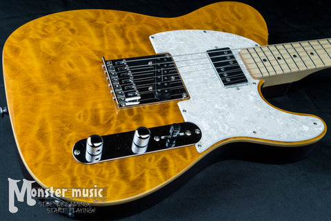 Michael Kelly 1957 Electric Guitar - Amber Trans