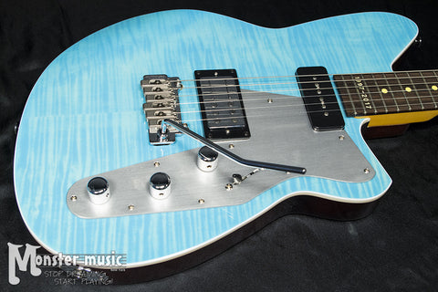 Reverend Double Agent III Wilkinson Trem - 20th Anniversary Limited Edition Electric Guitar - Sky Blue Flame Maple