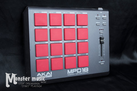 Akai Professional MPD18 Compact Pad Controller w/Red Buttons - Used