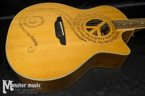 Luna Oracle Peace Grand Concert Acoustic Electric - New/Old Stock