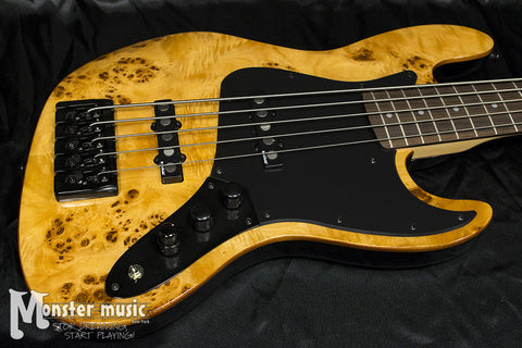 Michael Kelly Custom Collection Element 5 String Bass Guitar - Burl
