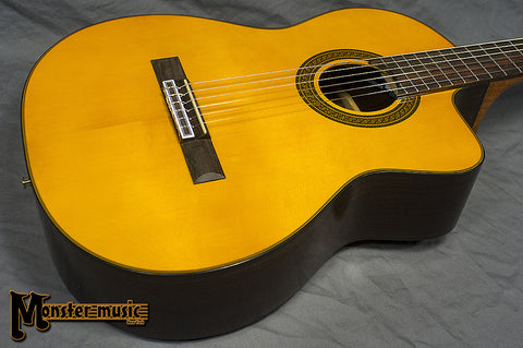 Takamine G Series GC5CE-NAT Acoustic Electric Classical Cutaway Guitar Natural