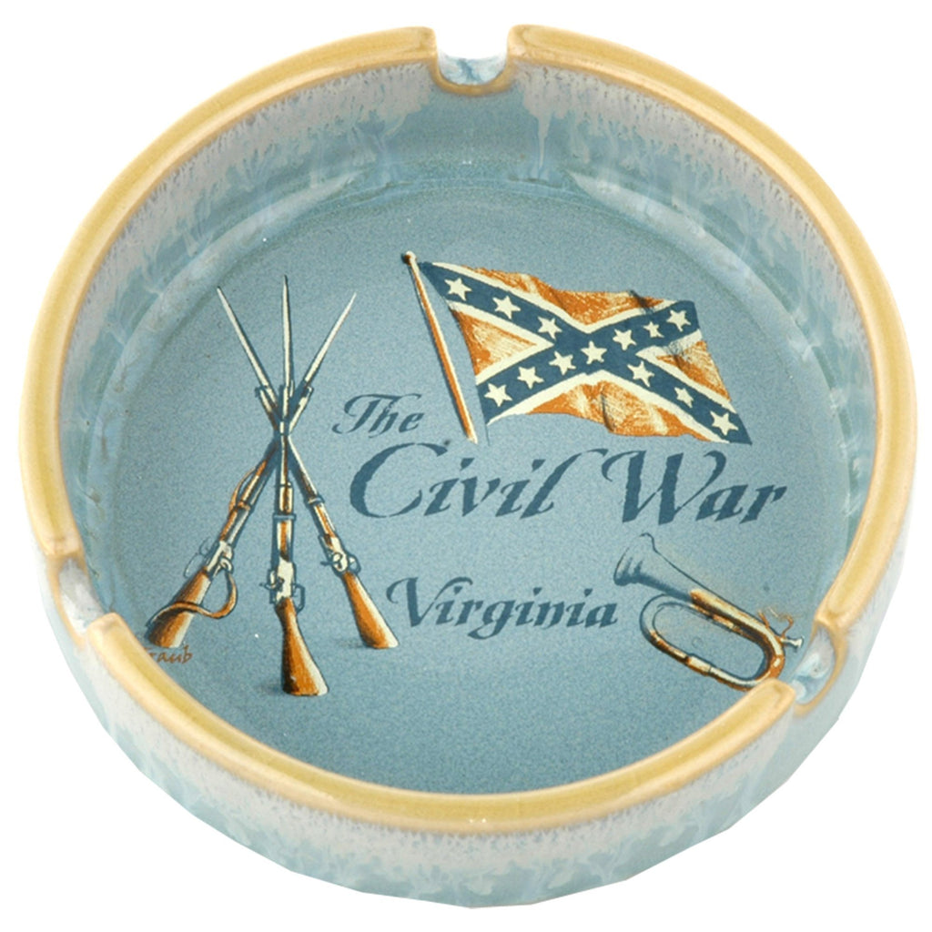 ATVA6 Ashtray Drip Glaze VA The Civil War