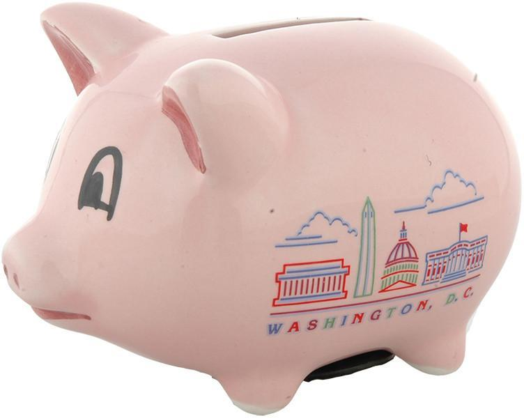 BADC2 Piggy Bank Pink Washington DC