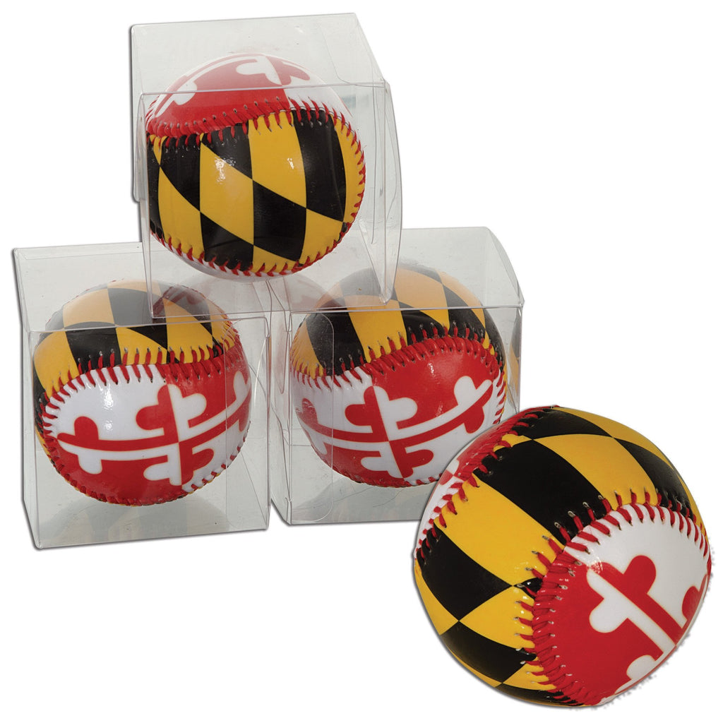 BBMD1 Baseball Boxed Maryland Flag Baseball