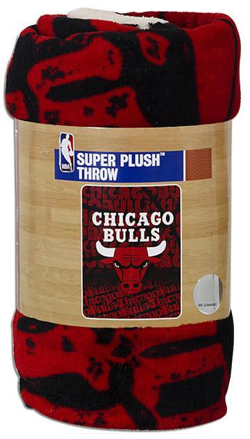 BCIL6 Blanket - Rolled Micro Raschel - Chicago Bulls