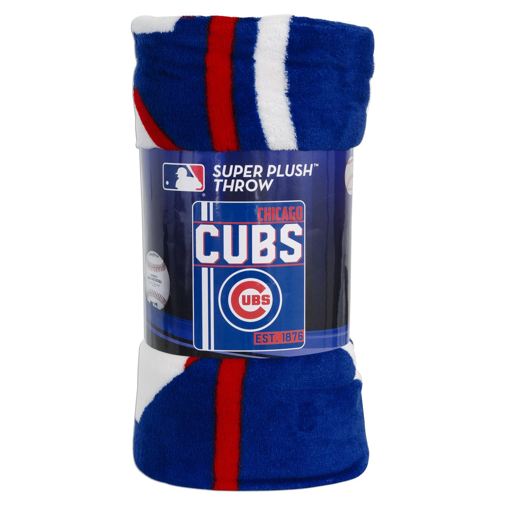 BCIL8 Rolled Micro Raschel Blanket - Chicago Cubs