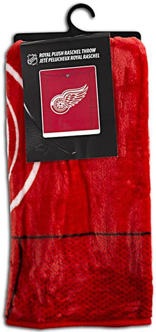 BCMI6 Blanket - Raschel Jumbo - Detroit Red Wings