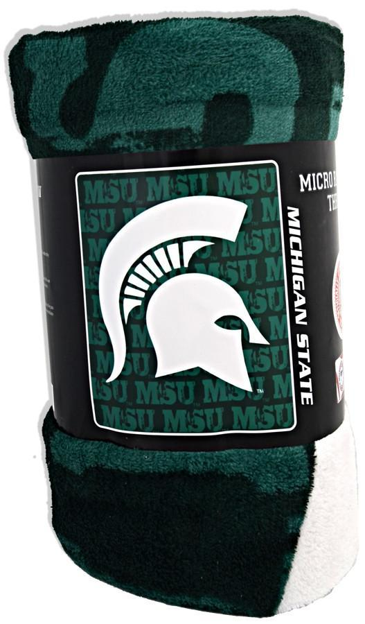 BCMS1 Blanket - Rolled Micro Raschel - Michigan State