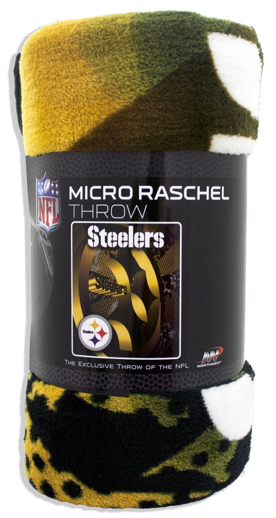BCST1 Blanket - Rolled Micro Raschel - Pittsburgh Steelers