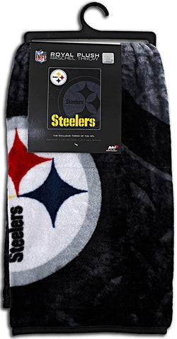BCST2 Blanket - Raschel Jumbo - Pittsburgh Steelers
