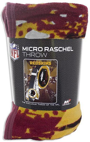 BCWR1 Blanket - Rolled Micro Raschel - Washington Redskins