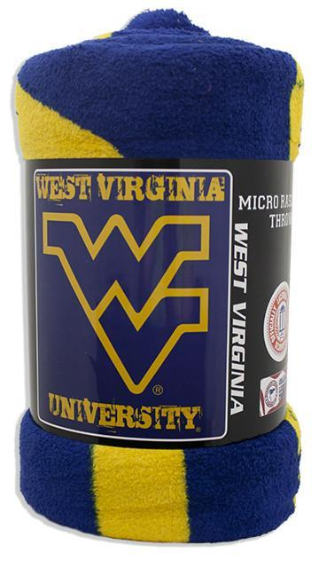 BCWU1 Blanket - Rolled Micro Raschel - West Virginia University