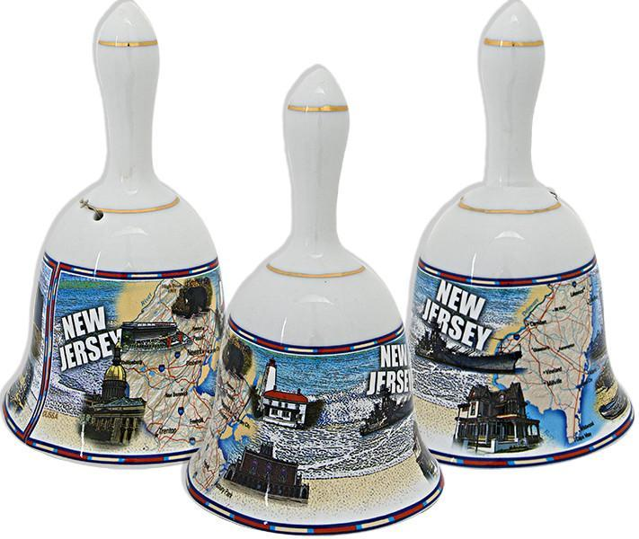 BLNJ5 Bell 4 inch White New Jersey Map