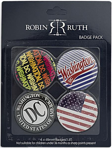 BTDC1 Robin Ruth Button Set of 4 Washington DC Assortment