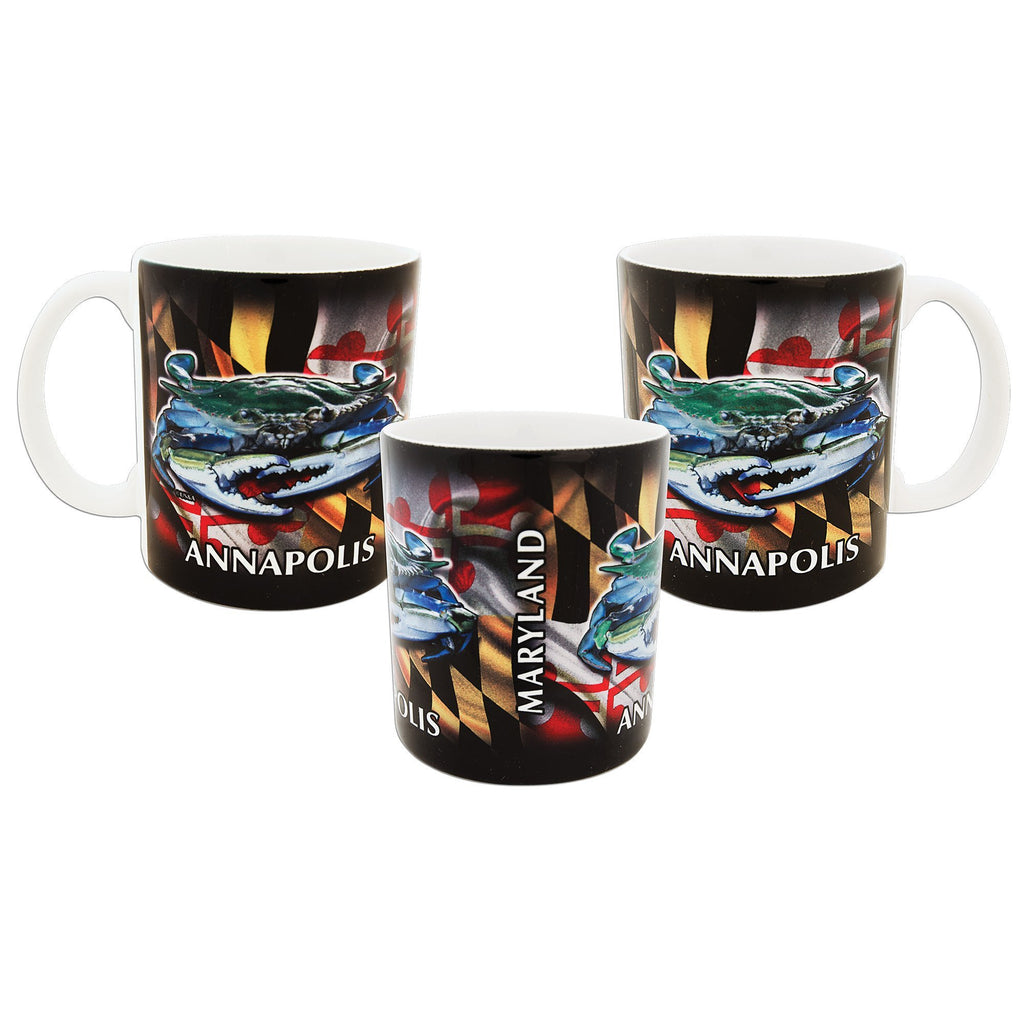 CMAM01 Coffee Mug Crab Flag Wrap Annapolis