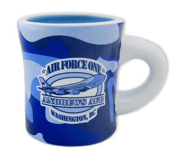 CMAN04 Coffee Mug Blue Camo Air Force One