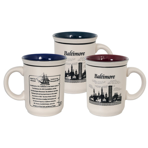 CMBM02 Coffee Mug Etched - Baltimore History