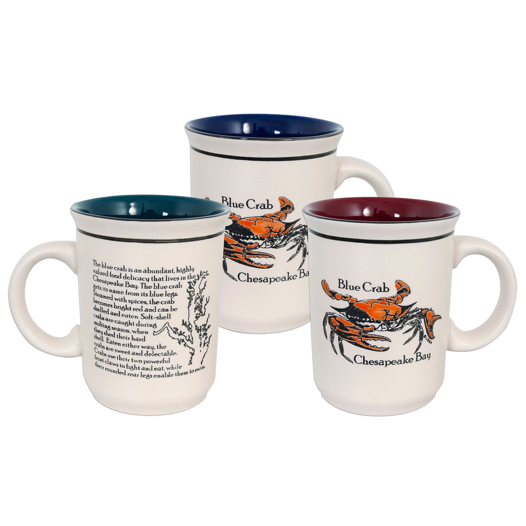 CMCB02 Coffee Mug Etched - Chesapeake Bay Blue Crab