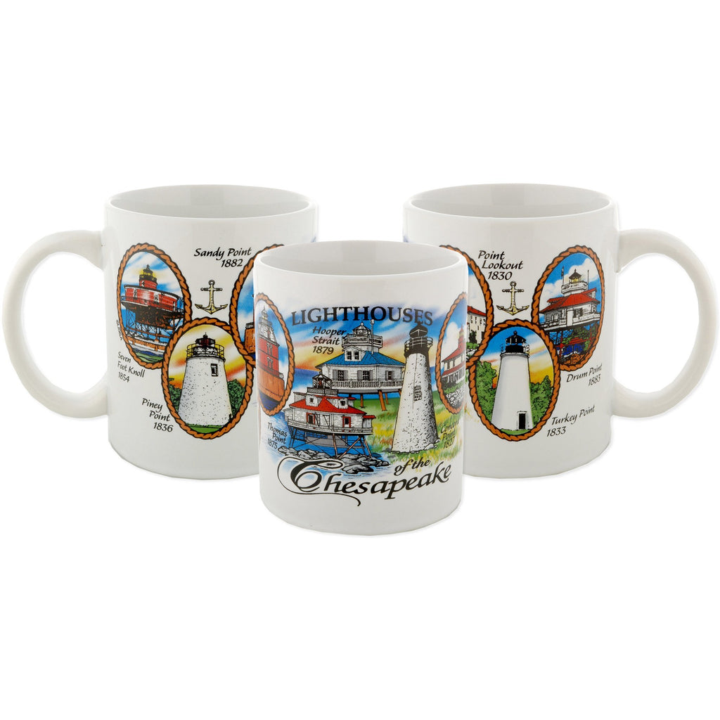 CMCB04 Coffee Mug White Wrap Lighthouses of the Chesapeake