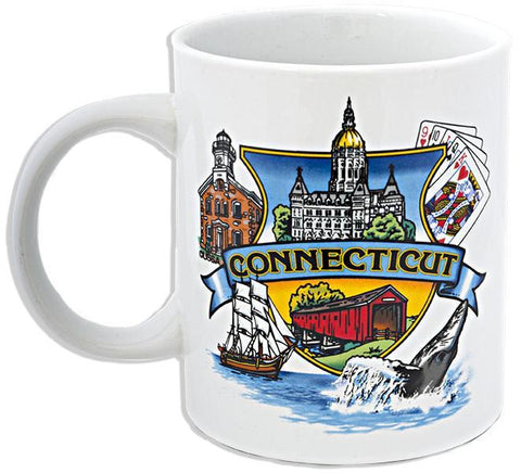 CMCT06 Coffee Mug White Connecticut Montage