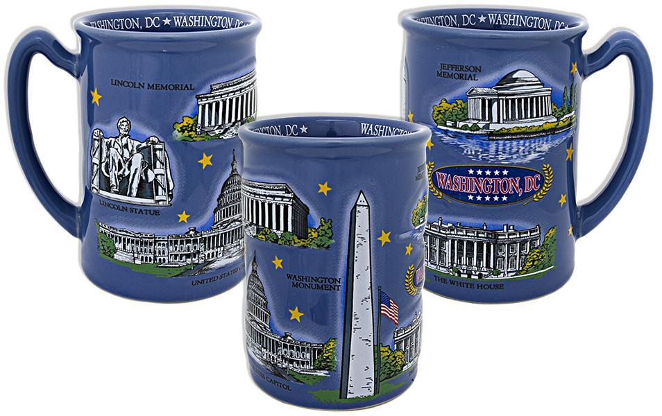 CMDC11 Coffee Mug Blue Raised Washington DC