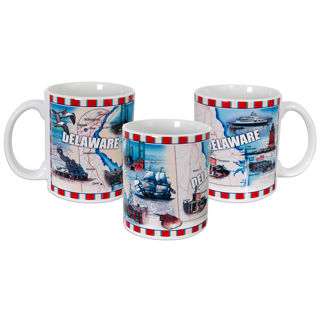 CMDE02 Coffee Mug Wrap Map Delaware