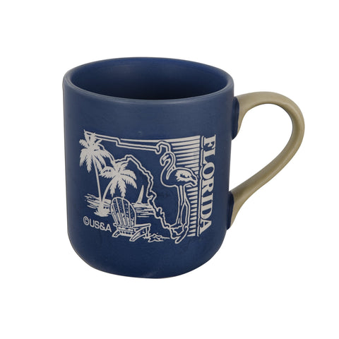 CMFL01 Coffee Mug - Marble Green Blue Florida