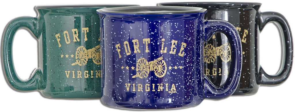 CMFLE03 Campfire Mug 3 color asst Fort Lee Distressed