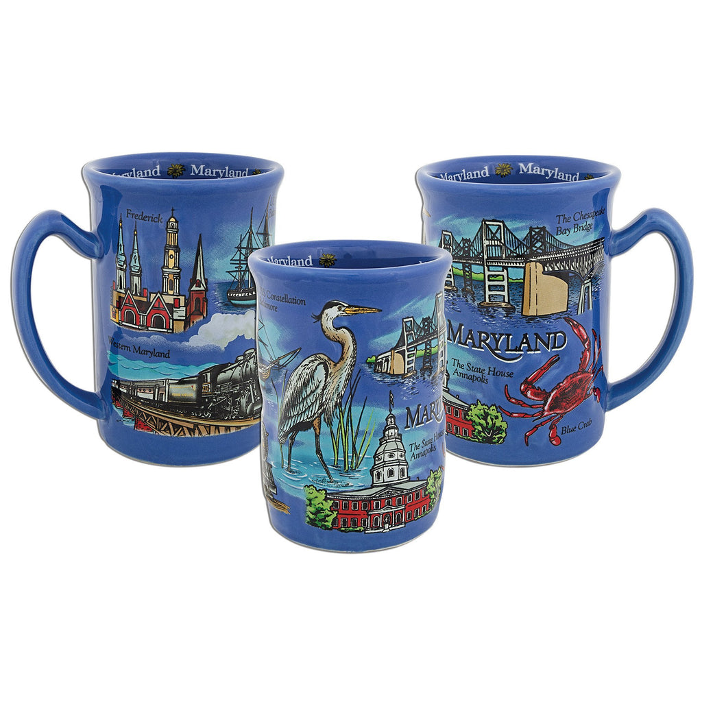 CMMD01 Coffee Mug Blue Raised Maryland
