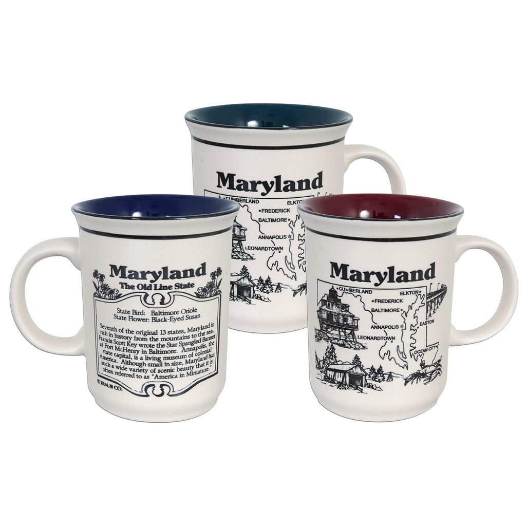 CMMD05 Coffee Mug Etched - Maryland History