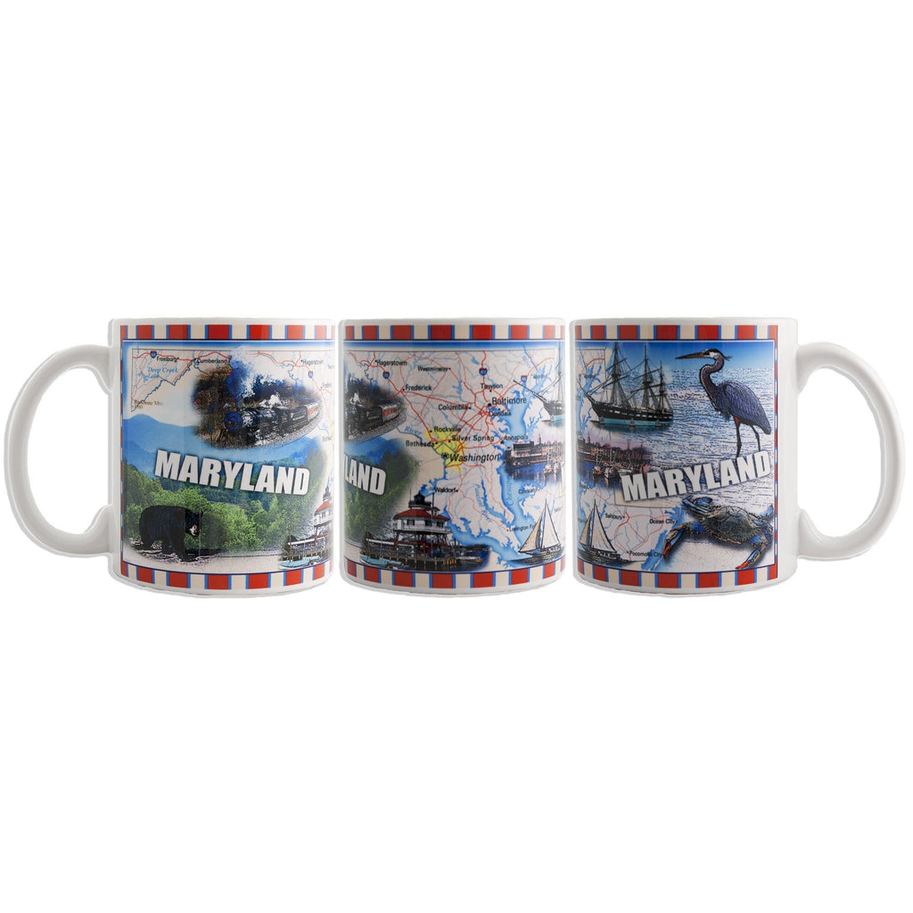 CMMD08 Coffee Mug Wrap Map Maryland