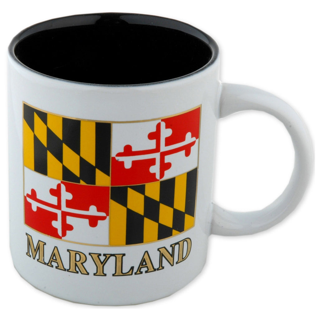 CMMD15 Coffee Mug White Maryland Flag